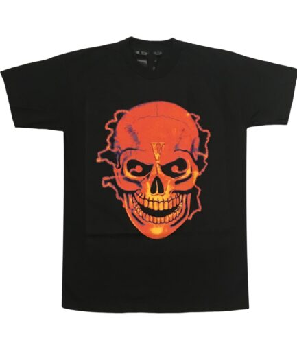 Vlone Black Shocker Skull T-Shirt