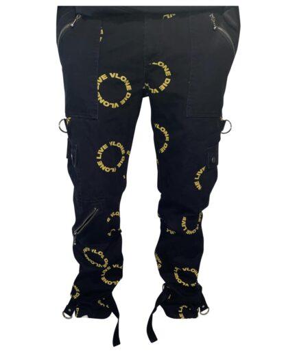 VLONE Black Polyester Pant