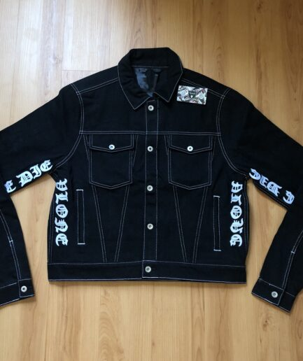 Vlone die denim Black Jacket