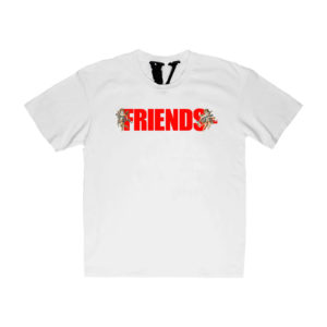 Vlone Friends Cupid Gun White T-Shirt