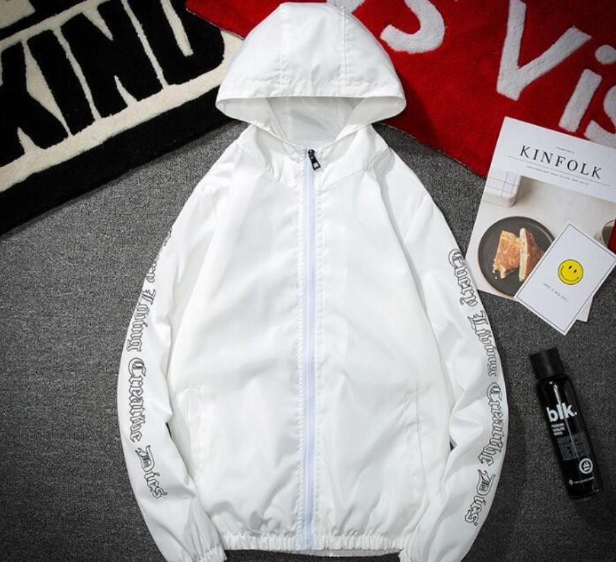 Vlone Hip Hop Windbreaker Bomber Sunscreen Jacket