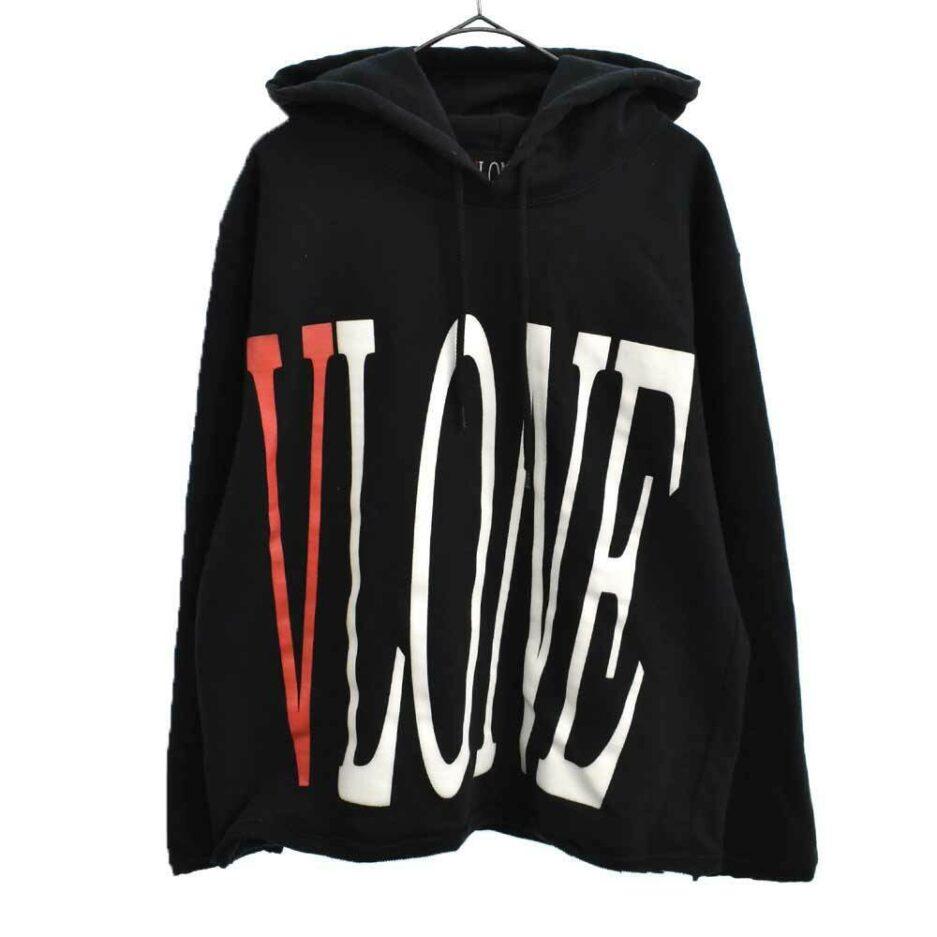 VLONE STAPLE HOODIE brand logo pullover hoodie black