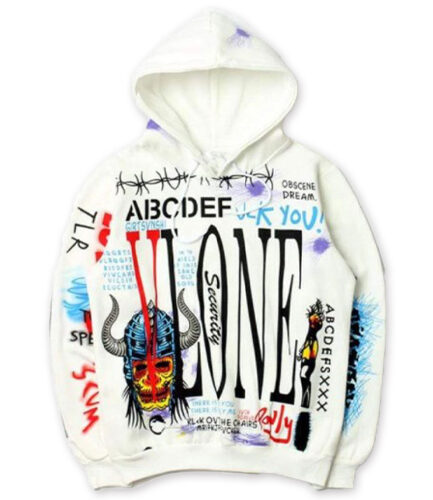 Vlone Graffiti Hip Hop Pullover Hoodie