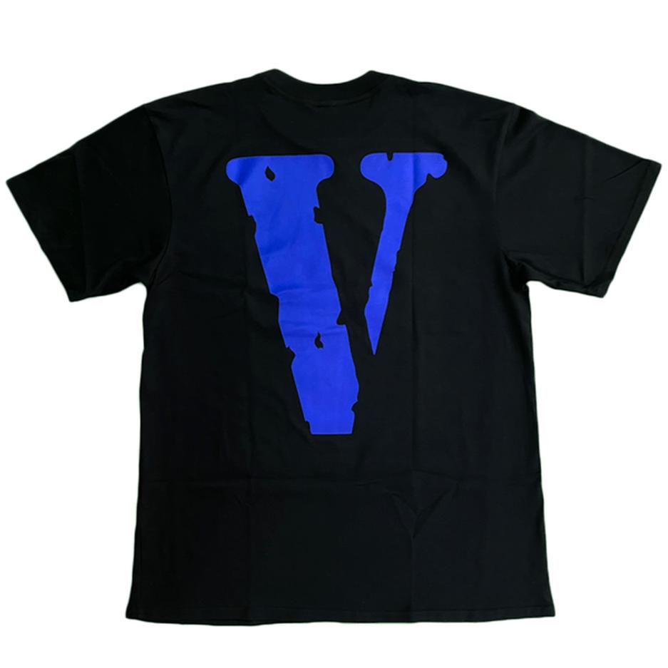 Vlone Logo Blue V Staple Tee