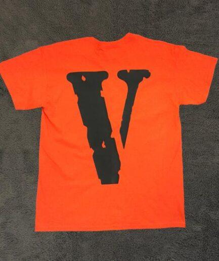 VLONE FRIENDS- Short Sleeve Orange T-Shirt