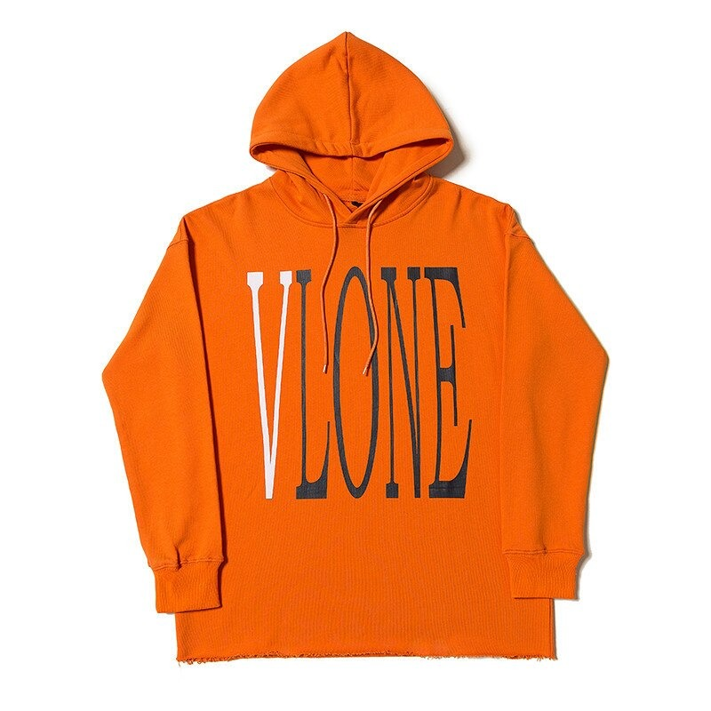 Vlone Staple Design Fashion Orange Hoodies
