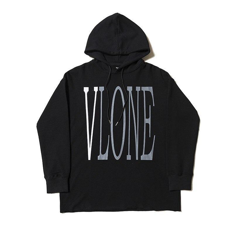 Vlone Staple Design Fashion Black Hoodies
