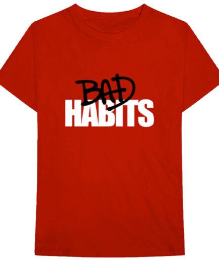 Nav x Vlone Bad Habits Maroon T-Shirt