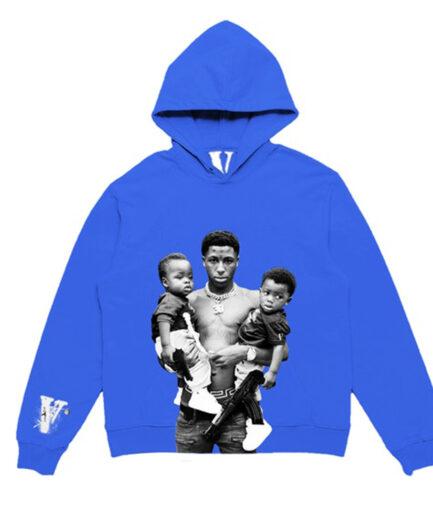 YounBoy NBA X Vlone Kacey Talk Blue Hoodie