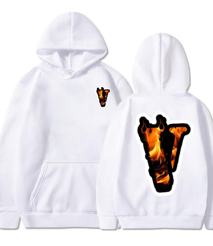 Vlone Angles Fire White Hoodie