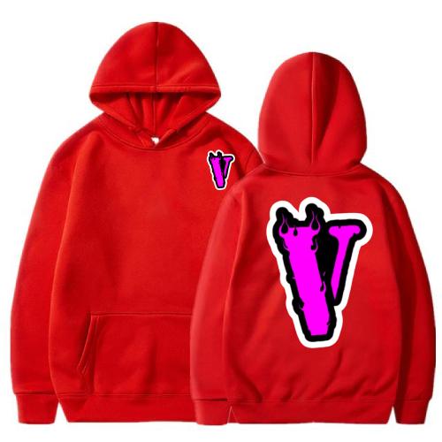 Vlone Palm Angels V Print red Hoodie