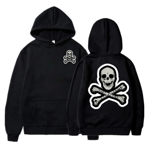 Vlone Skull And Bones Black Hoodie