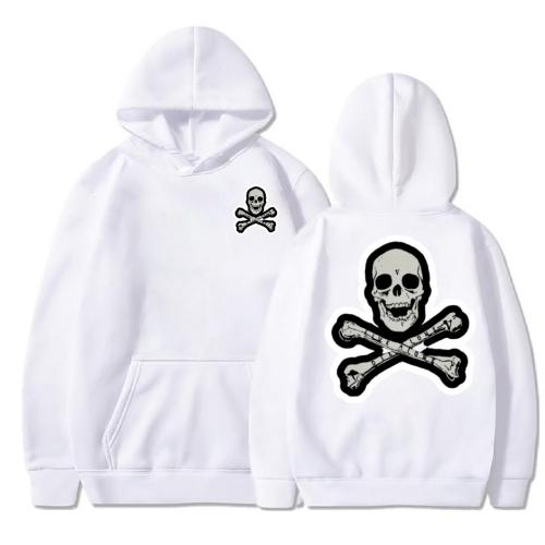 Vlone Skull And Bones White Hoodie