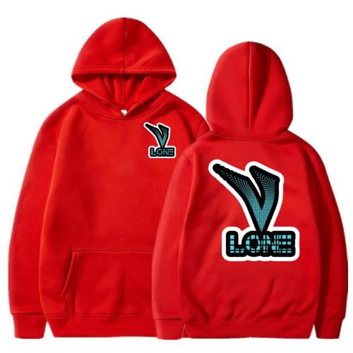 Vlone Classic 3D Printed Red Hoodie
