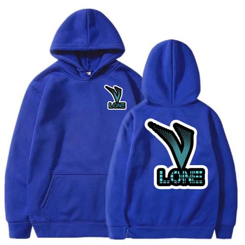 Vlone Classic 3D Printed blue Hoodie