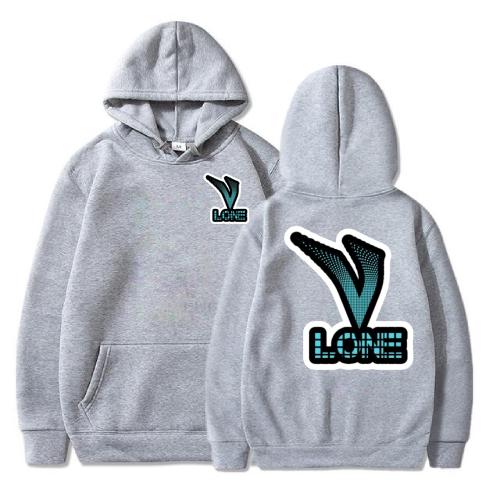 Vlone Text Logo gray Hoodie