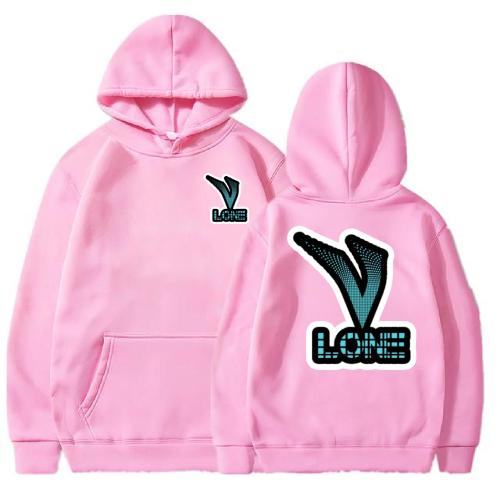 Vlone Classic 3D Printed pink Hoodie