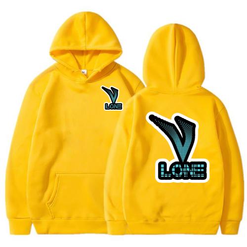 Vlone Classic 3D Printed yellow Hoodie