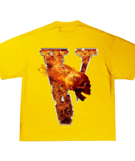 Juice Wrld x Vlone Inferno Yellow T-Shirt