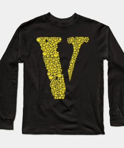 Smile Emoji Face Vlone Long Sleeve T-Shirt