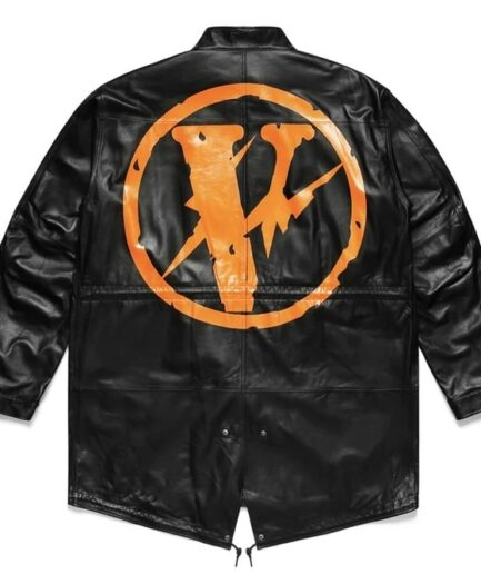 VLONE FRAGMENT LEATHER JACKET