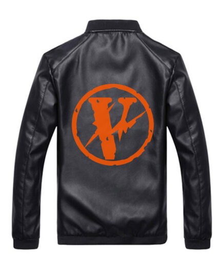 VLONE-Logo-Black-Leather-Jacket