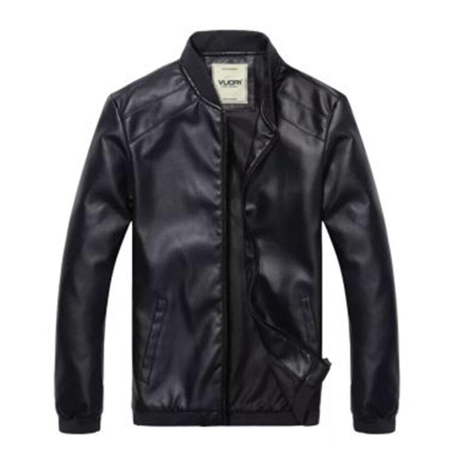 VLONE Black Leather Jacket