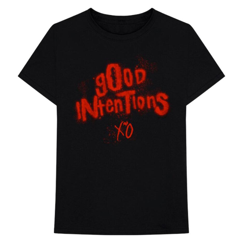 NAVNWO WOLFPAC GOOD INTENTIONS XO BLACK TEE
