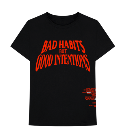Nav X Vlone Bad Habits But Good Intentions Black T-Shirt