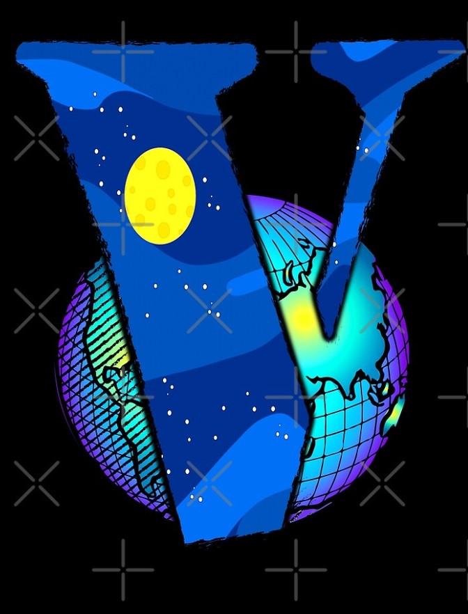 Vlone Earth Logo Staple Scarf