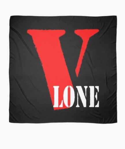 Vlone Text Printed Scarf
