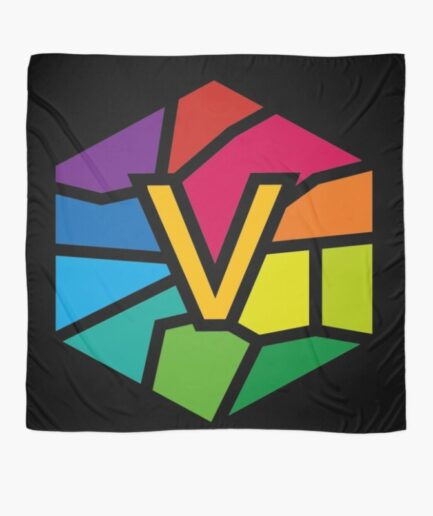 Vlone Multi Color Printed Scarf