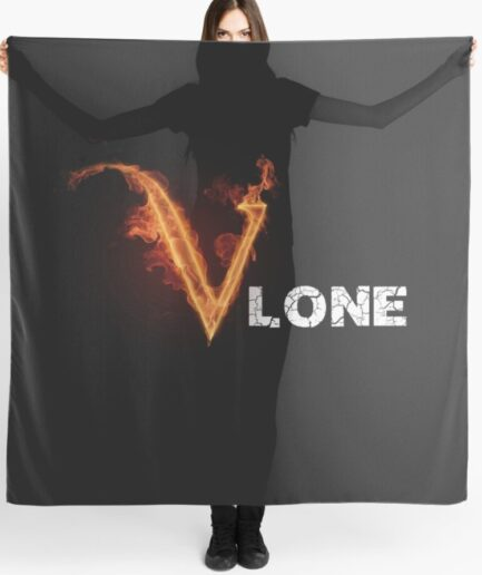 Vlone Fire Stones Black Scarf