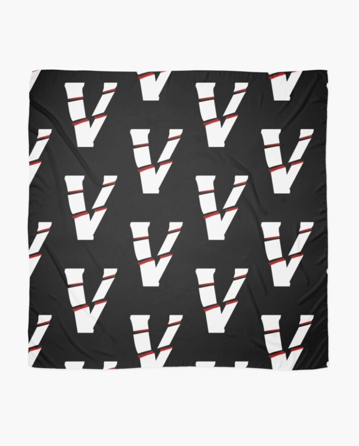 Vlone V Logo Black Scarf
