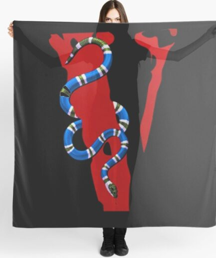 Vlone Snake Staple Black Scarf