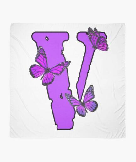 Vlone Purple Butterfly Scarf