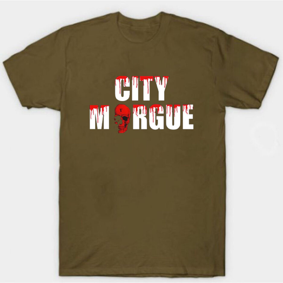 VLONE City Morgue Dogs T-Shirt Brown