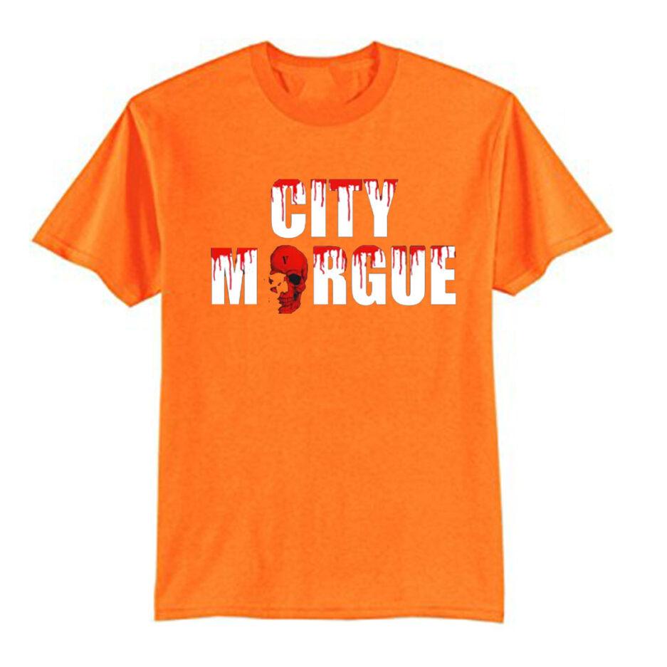 VLONE City Morgue Dogs T-Shirt Orange