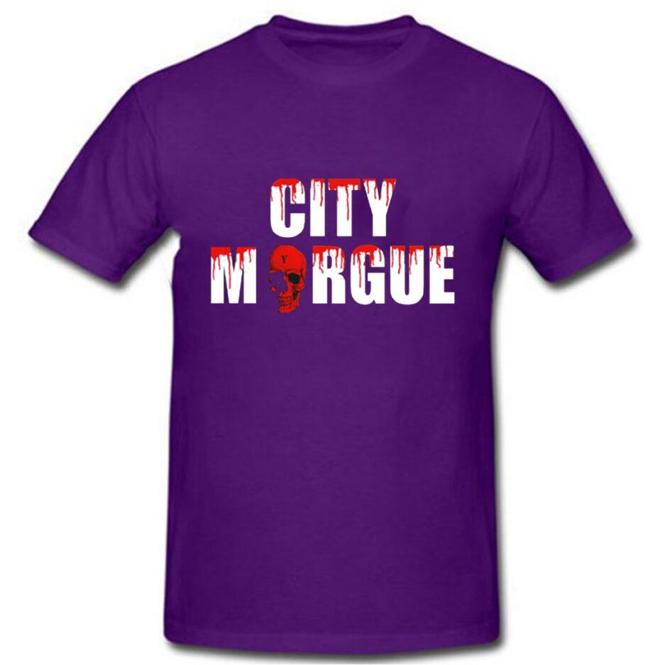 VLONE City Morgue Dogs T-Shirt Purple