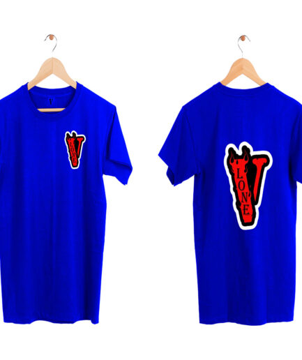 Vlone Staple Fashion T-Shirt Blue