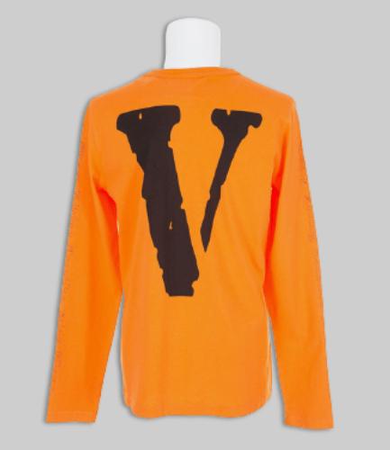 Vlone X OFF-WHITE Orange Long Sleeve