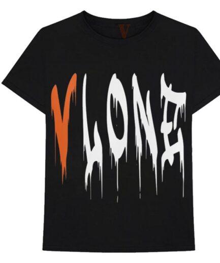 Vlone Blood Fall T-Shirt Black