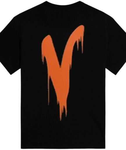 Vlone Blood Fall T-Shirt Black Back