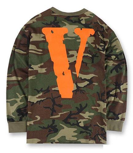 Vlone OG Vlone FRIENDS Camouflage Long Sleeve Brown ( Back )