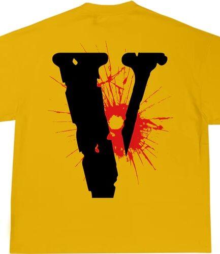 YoungBoy NBA x Vlone House Arrest Yellow Tee ( Back )