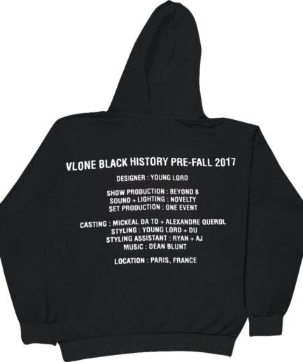 Vlone Black History Hoodie - Black (Back)