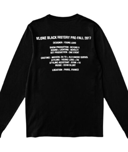 Vlone Black History Long Sleeve - Black (Back)