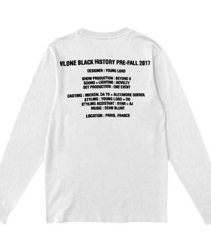 Vlone Black History Long Sleeve - White (Back)