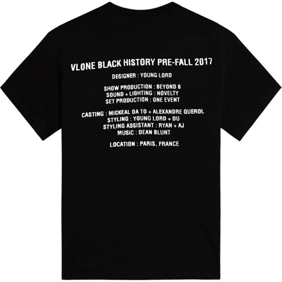Vlone Black History Tee Black (Back)
