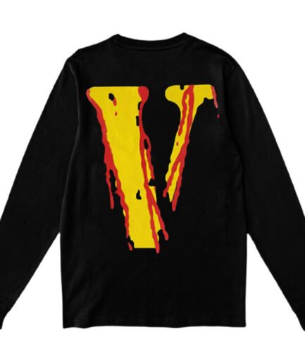 Vlone Blood Smiley Face Long Sleeve - Black (Back)